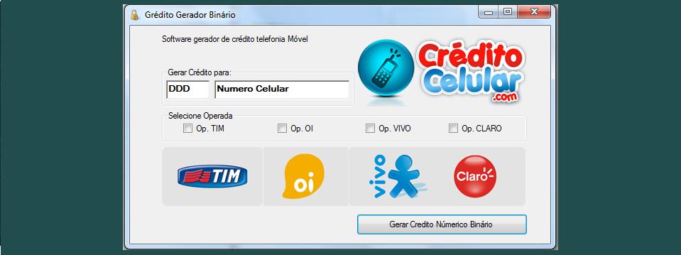 gerador de creditos para celular tim